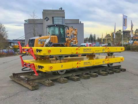 Rail trailer flatlorrie | amtgroup.nl