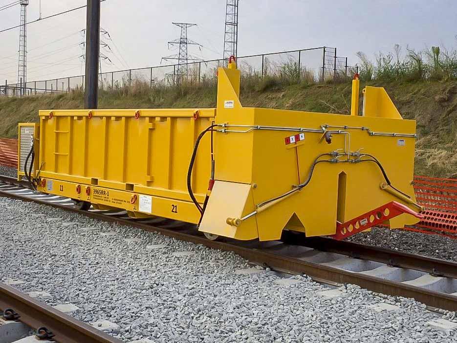 Rail trailer ballastverdeler