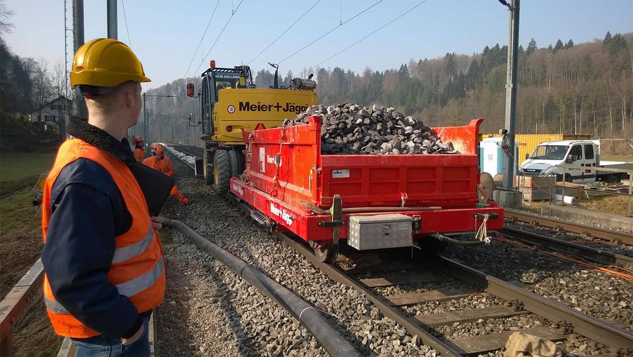 railtrailer lorrie container