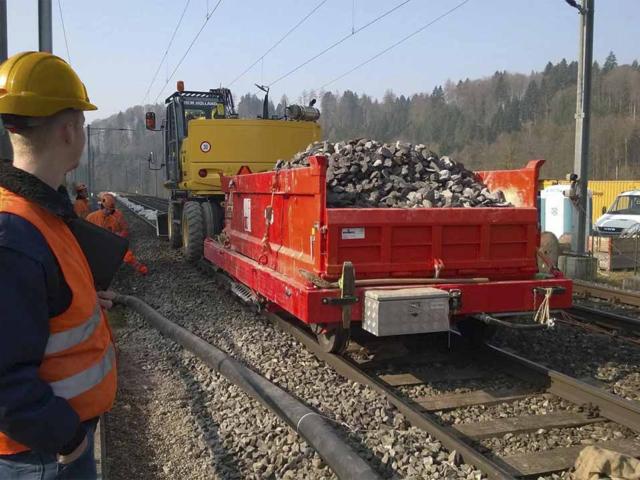 Railtrailer dieplader