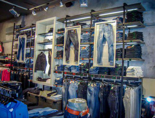Winkel denim wall