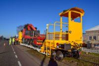 selbstfahrenden Gleisbauanhänger