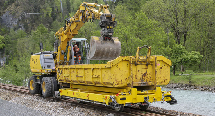 Railtrailer flatlorrie