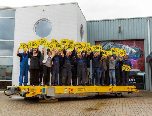 AMT viert levering 100e railtrailer en blikt terug naar de afgelopen vijf jaar!