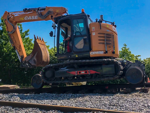 Tracked Rail Excavators