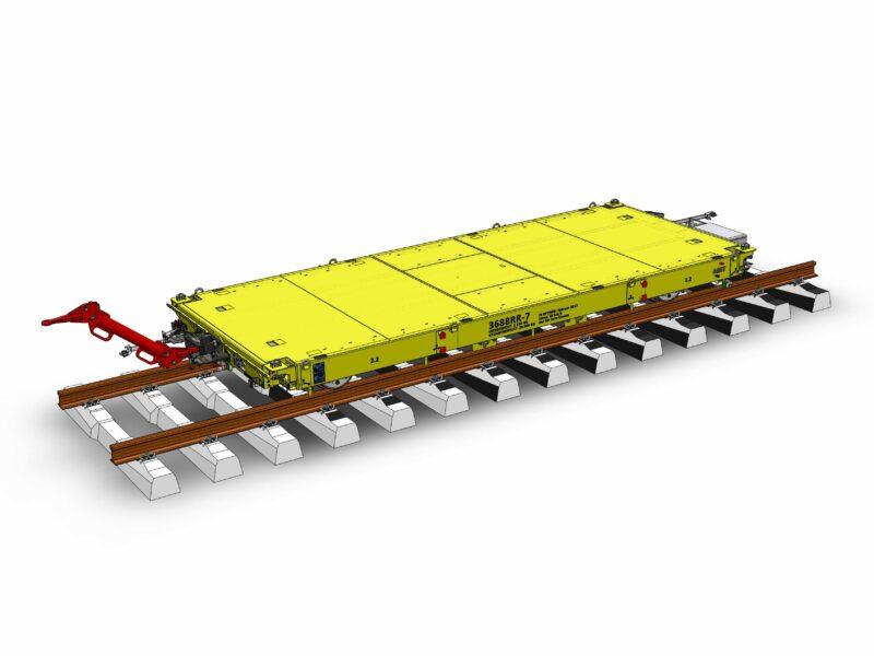 Rail trailer flatbed