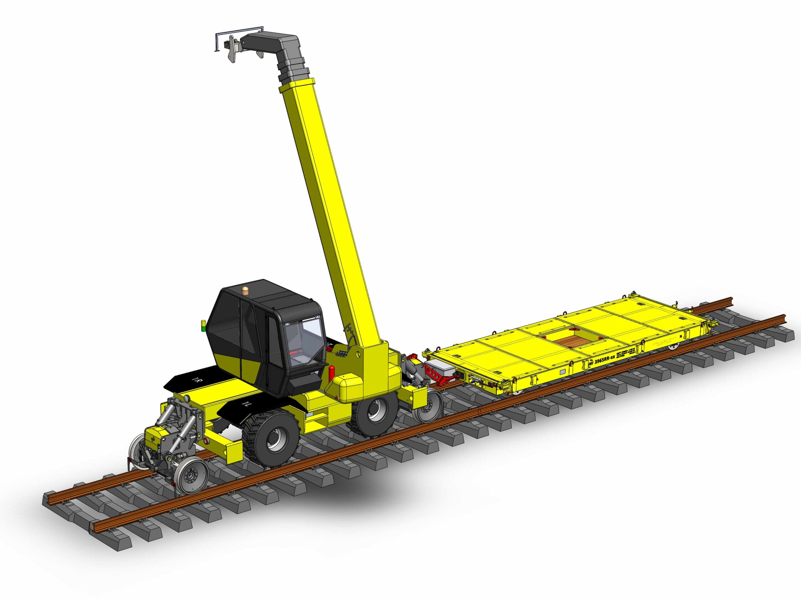 Manirail rail trailer