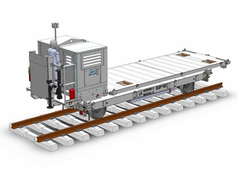 Zelfrijdende railtrailer