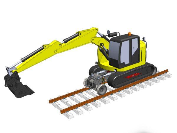 Tracked Rail Excavators Cranes CX145