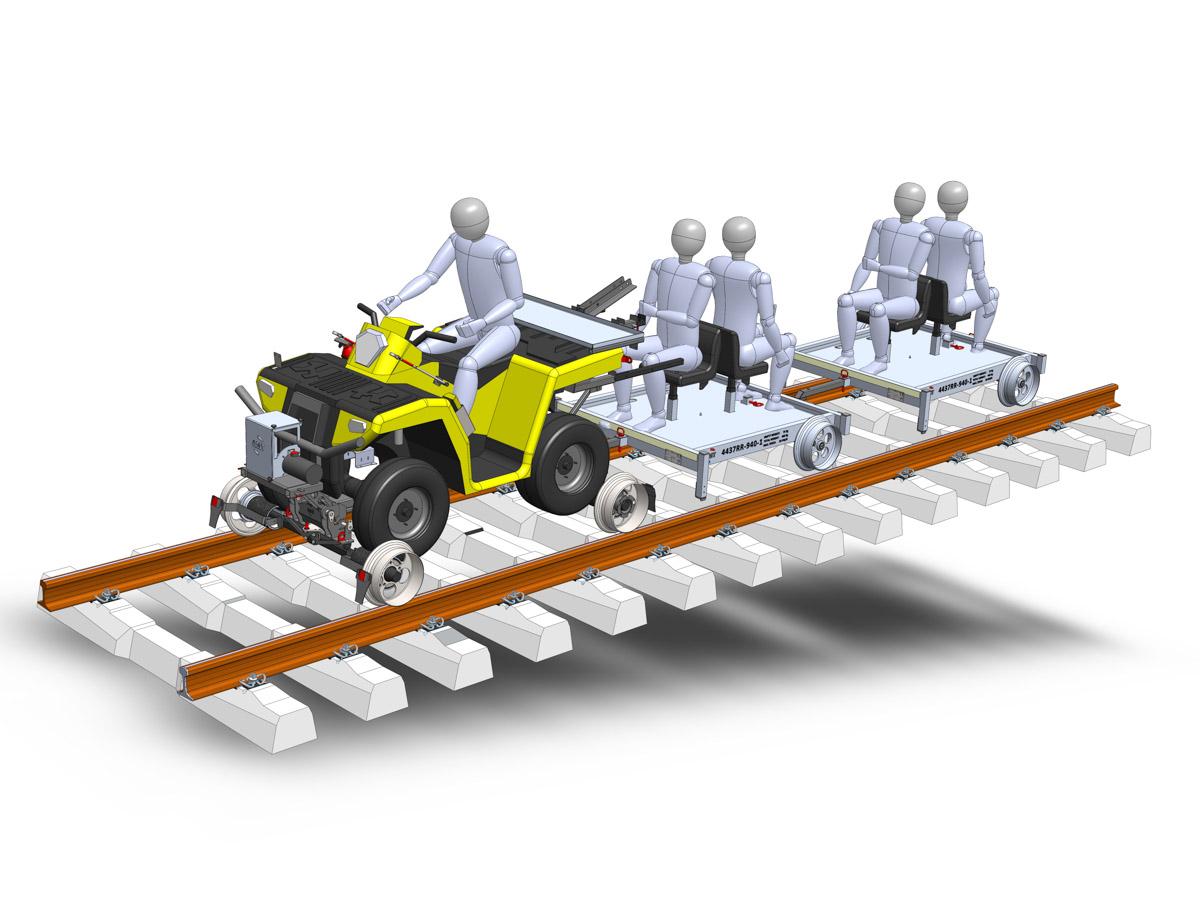 Rail Road ATV passenger transport