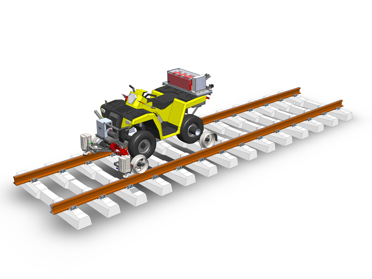 Rail Road ATV with brushes