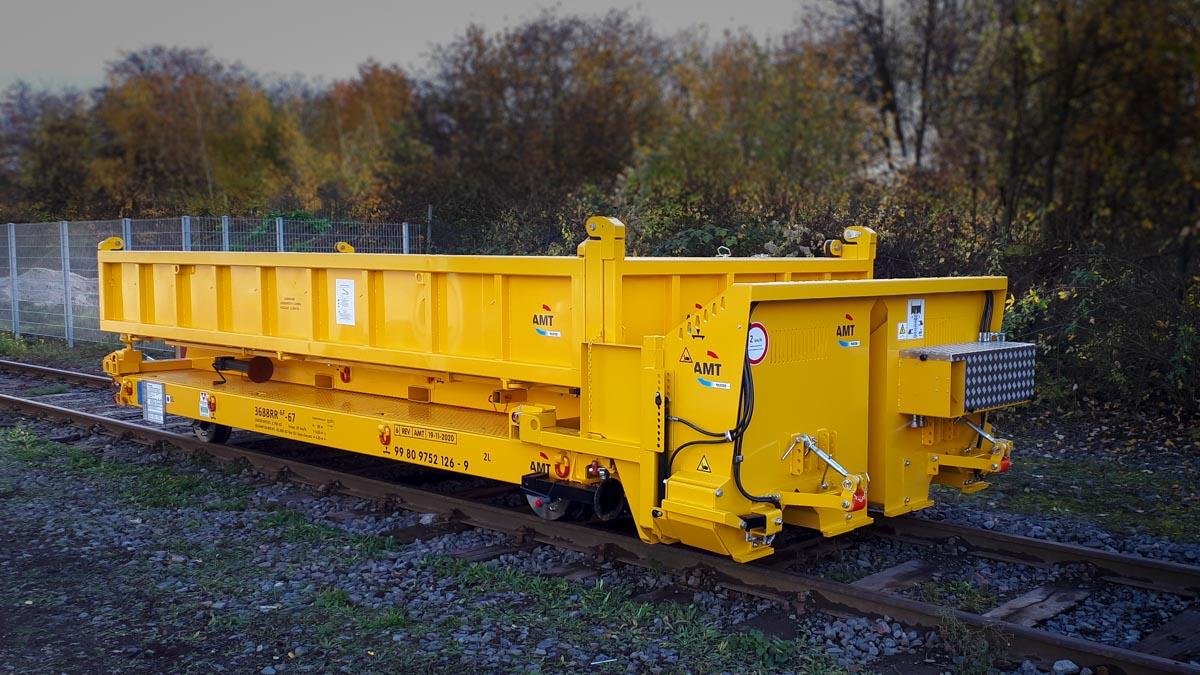rail trailer ballast distributor