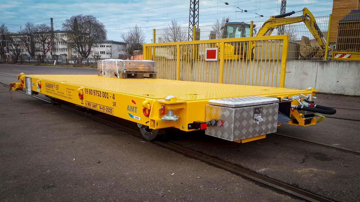flatbed rail trailer