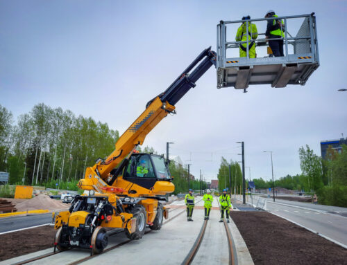New delivery Manirail on meter track
