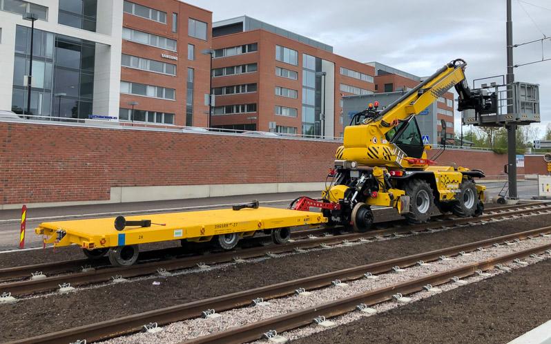 Railtrailers lichtgewicht